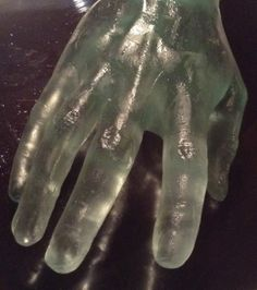 A Pianist's Hand, cast glass, 2014