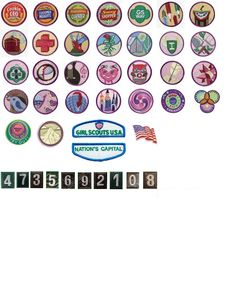 doll sized girl scout badges for American Girl Dolls.