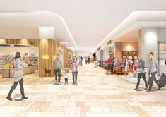 GRAND TREE MUSASHIKOSUGI_005 Mall Design, Store Design, Shopping Mall Interior, Commercial Center, Bus Station, Retail Space, Commercial Interiors, Zhengzhou, Flooring