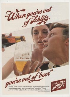 1968 Schlitz Beer  Advertisement by fromjanet on Etsy, $5.00