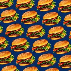 Cheeseburger 3 Pattern