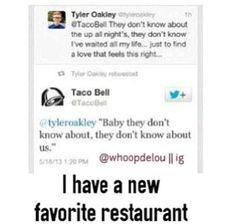 Tyler Oakley and Taco Bell love One Direction :-)