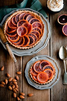 ∴ Orange Almond Five Spice Tart by stephsus Tart Recipes, Sweet Recipes, Dessert Recipes, Cooking Recipes, Cooking Tips, Just Desserts, Delicious Desserts, Yummy Food, Vegetarian Desserts