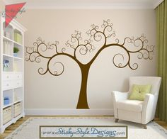 Hey, I found this really awesome Etsy listing at http://www.etsy.com/listing/160909903/swirly-tree-wall-decal-abstract-free