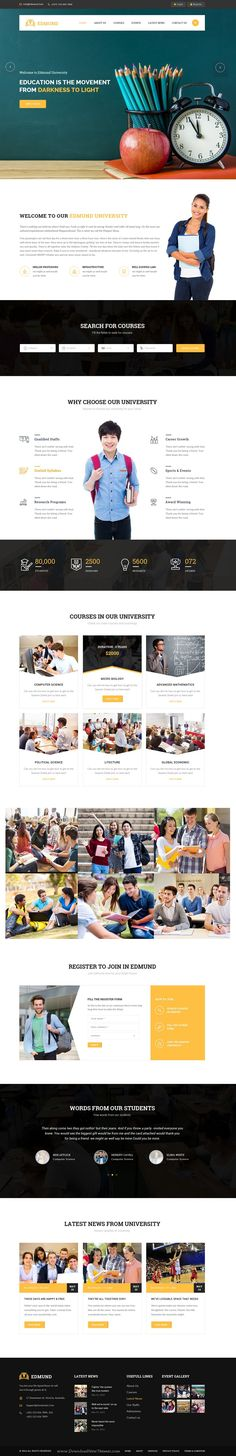 Edmund is wonderful premium PSD #Template for multipurpose #Education #website, includes 20 Total Pages. Download Now!