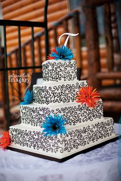 Grey+and+Orange+Wedding+Cake | Blue-and-Orange-Wedding-cake.jpg