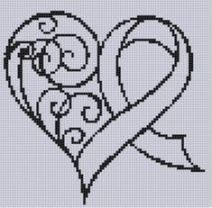 Hey, I found this really awesome Etsy listing at https://www.etsy.com/uk/listing/171313454/awareness-ribbon-heart-cross-stitch