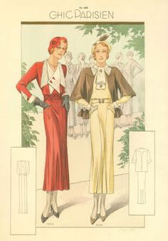 Daywear ... (from the '1930s Fashion Sourcebook' by Charlotte Fiell)