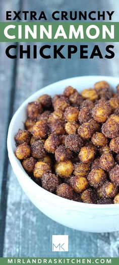 This sweet, crunchy snack is full of protein! Pack it for your next camping adventure or road trip. Take it hiking or on a picnic.  It is the perfect summertime snack! It is quick and easy to make this sweet snack in the oven so it won't cut into your summer fun time! #snack #appetizer #easy #homemade #fromscratch #camping #hiking #picinic Chickpea Recipes Easy, Easy Dinner Recipes, Healthy Dinner Recipes, Snack Recipes, Cooking Recipes, Oven Recipes, Health Recipes, Candy Recipes, Copycat Recipes