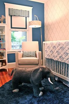 pretty navy nursery - cute