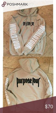 Purpose Tour Sand Hoodie- BIEBER Purpose Tour Pop Up shop sweatshirt Tops Sweatshirts & Hoodies