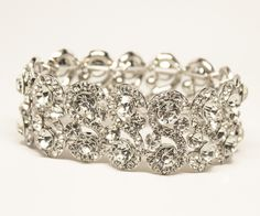 Hair Comes the Bride - Rhinestone Bridal Bracelet ~ Hattie in Silver, $48.00 (http://www.haircomesthebride.com/rhinestone-bridal-bracelet-hattie-in-silver/)