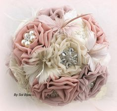 feather and fabric bouquet - Google Search