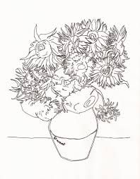 85 best sunflower coloring page van gogh images on Pinterest ...