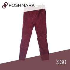 Madewell maroon courdoroys Size 27, high rise skinny jean Madewell Jeans Skinny