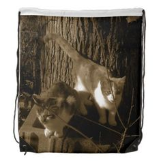 #Cats #Tree #Vintage #Drawstring #Bags