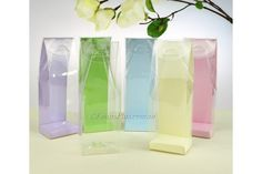 Check out this Clear Tall Favour Box in Multiple Colours **New!** on the Easy…