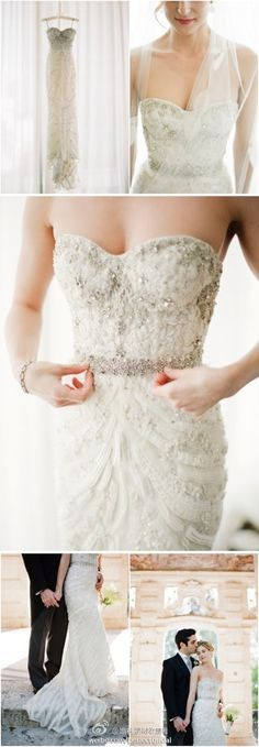 Officially decided I need to have a Monique Lhuillier dress for my wedding Beaded Wedding Gowns, Beaded Gown, Wedding Dress Belts, Bridal Gowns, Perfect Wedding Dress, Miami Wedding, Dream Wedding, Ballroom Wedding, Wedding Prep
