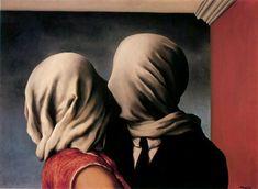 'The Lovers', öl von Rene Magritte (1898-1967, Belgium)