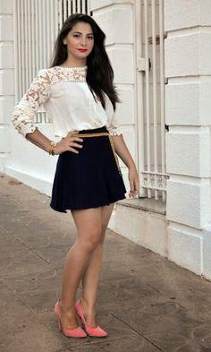 Look Blusa Renda - Moda it | Moda It
