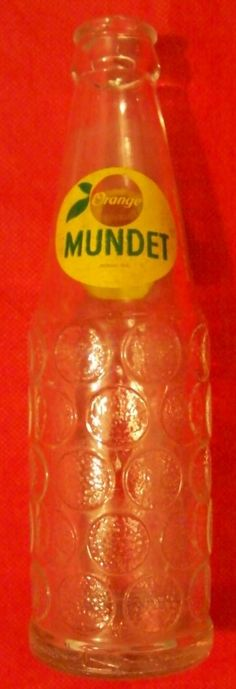 Antigua Botella Refresco Orange Mundet Tamaño Pequeño - Vbf - $ 175.00 en MercadoLibre