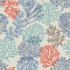 Coral fabric print