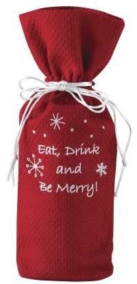 Eat Drink and Be Merry Wine Bag by Primitive Home Decors. $6.95. Limited quantities available ONLY 3 LEFT Eat Drink and Be Merry Wine Bag Priced and sold individually. Designed and manufactured by Park Designs.