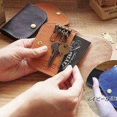 【送料無料】イタリアレザーのキーコインケース☆キーケースにもコインケースにもカードケースにもなる。本革 日本製 名入無料 キーケース Perhe(ペルフェ) ハンドメイド通販・販売のCreema