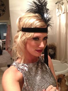 Great gatsby hair style! #gatsby #hair #20shair #party