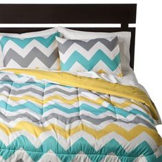 Room Essentials® Chevron Comforter - White -Target has a bunch of cute comforters