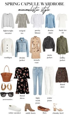 Spring Capsule Wardrobe + Outfit Ideas Read this post to get your best spring wardrobe yet! By focusing on a spring capsule wardrobe you will always look chic and have something to wear! Capsule Outfits, Fashion Capsule, Mode Outfits, Fashion Outfits, Trendy Outfits, Spring Outfits Travel, Paris Spring Outfit, Summer Outfit, Womens Fashion