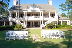 the double stairway ~ palmetto-hall-clubhouse-