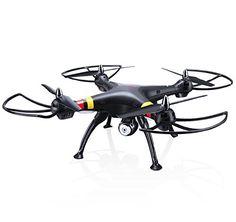 Syma X8W FPV en tiempo real 2.4Ghz 4ch 6 eje Gyro Headless RC grande Quadcopter Drone con cámara HD RTF (negro) - http://www.midronepro.com/producto/syma-x8w-fpv-en-tiempo-real-2-4ghz-4ch-6-eje-gyro-headless-rc-grande-quadcopter-drone-con-camara-hd-rtf-negro/