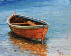 "Daily+Paintworks+-+""Vibrant+boat+scene+""+-+Original+Fine+Art+for+Sale+-+©+Marco+Vazquez"