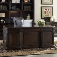 Cherry Creek Wall Unit With Partner Desk By Hooker Furniture | Cherries,  Partners Desk And Hooker Furniture