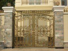 Mẫu cửa cổng nhôm đúc GAT 144