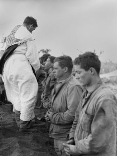 size: Photo: U. Marines and a Chaplain Celebrate Catholic Communion During the Battle of Iwo Jima : Catholic Prayers, Catholic Art, Roman Catholic, Iwo Jima Photo, Catholic Communion, Battle Of Iwo Jima, Catholic Pictures, Divine Mother, God Bless America