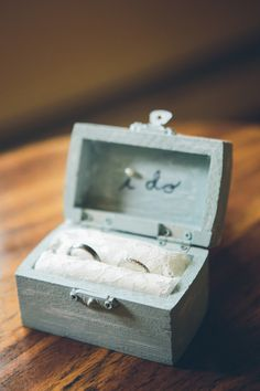 Rustic 'I Do' engagement ring box: Photography: Cynthia Chung Photography - cynthiachungweddings.com   Read More on SMP: http://www.stylemepretty.com/2016/11/01//