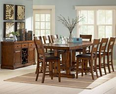 Garrett Counter Height Dining Set Consist Of 8 Piece Counter Height Dining Set Featured With Counter Height Dining Table Seats 6