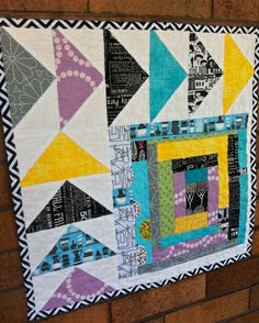 a little gray: A Mini-Quilt for Your Monday