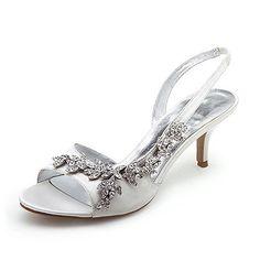 #Women's Satin Upper Mid Heel Strappy Sandals Wedding Bridal #Shoes                http://www.amazon.com/Womens-Strappy-Sandals-Wedding-Bridal/dp/B005IFEQKM/ref=pd_sbs_shoe_5/179-1749097-4097238=run4deal-20