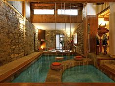 The indoor pool in a 7.3m Italian Lake Como chalet.  Magnifico!