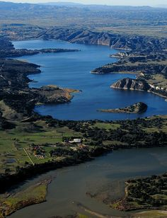 Lake Cachuma, a reservoir on the Santa Ynez River, Santa Barbara, California by John Wiley