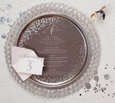 Confetti Menu and Place Card Cheree Berry Edyta Szyszlo Wedding Stationery Inspiration: Confetti