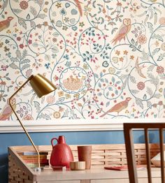 Archive Wallpapers V - Melsetter - tapeter från William Morris & Co - Tapetorama William Morris Wallpaper, Morris Wallpapers, William Morris Tapet, Paper Wallpaper, Cool Wallpaper, Craftsman Wallpaper, Wallpaper Canada, Painted Rug, Arts And Crafts Movement
