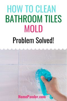 Cleaning mold from bathroom tiles is nobody's idea for a fun pastime. But, for the sake of better hygiene, you should know how to clean bathroom tiles mold. #Cleaning #householdtips #homesmellhacks #bathroom #bathroomsmellhacks #cleaninghacks #cleaningtips #easycleaning Cleaning Bathroom Tiles, Bathroom Repair, Cleaning Mold, Cleaning Supplies, Cleaning Tips, Shower Soap, Best Cleaning Products, Soap Scum, House Smells