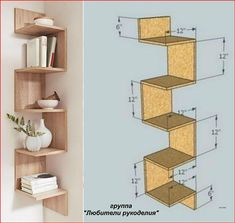 Home Decor Shelves, Wall Shelves Design, Home Decor Furniture, Furniture Projects, Bookshelf Design, Home Room Design, Home Interior Design, Kitchen Interior, Diy Home Crafts