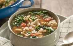 Kale & White Bean Soup w/ Mediterranean Chicken Sausage.