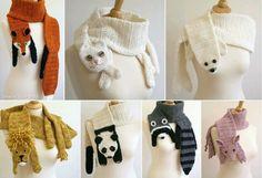 Bufandas de animales.
