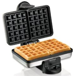 Enjoy delicious fluffy waffles with the Hamilton Beach Belgian Style Waffle Baker. It's compact design makes for easy storage when not in use. Make your weekends special with hot, tasty waffles made in the Hamilton Beach Belgian Style Waffle Maker. Waffle Maker Reviews, Best Waffle Maker, Belgian Waffle Maker, Belgian Waffles, Crispy Waffle, Keto Waffle, Waffle Iron, Waffle Recipes, Hamilton Beach Waffle Maker